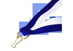 Panglica:  Albastru / Alb